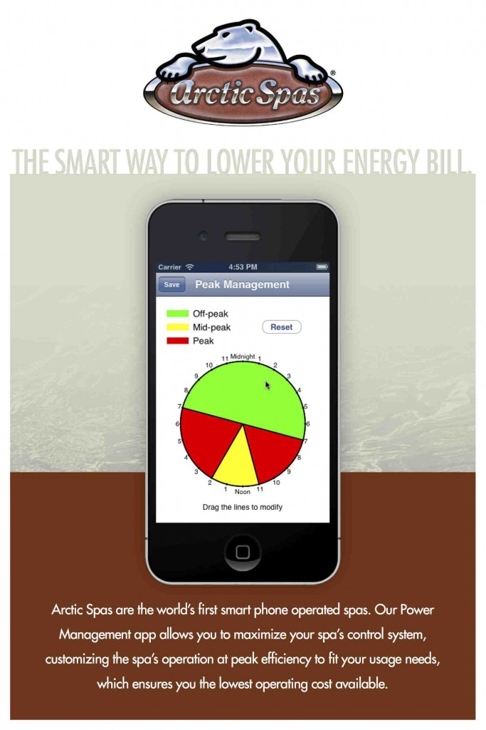 Hot tub app reduces electrical cost