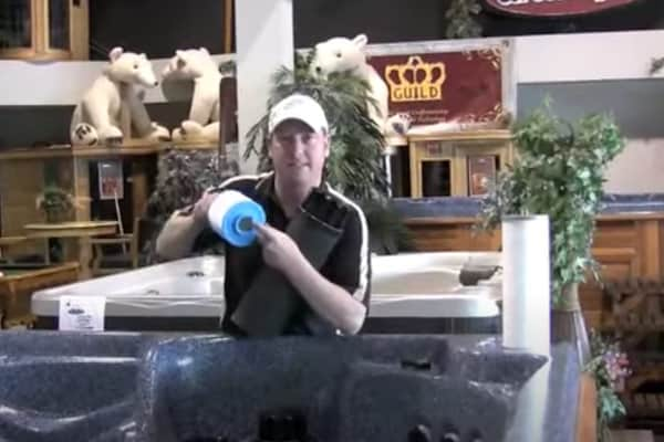 hot tub filter presenttion on video