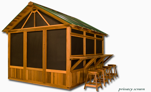 Hot tub gazebo habitat privacy screen