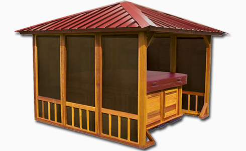Hot tub gazebo hideaway retreat