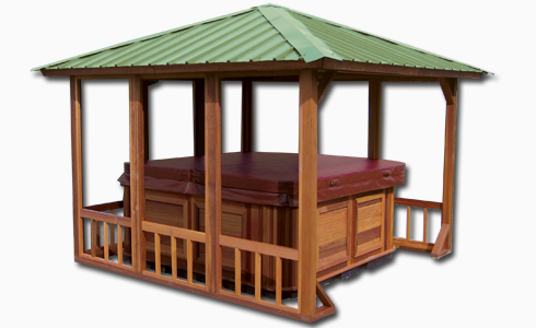 Hot tub gazebo sunshine retreat