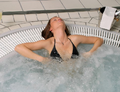 hot tub stress relief