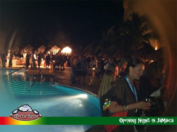 registration night at Arctic Spas Dealer Seminar Jamaica 2012