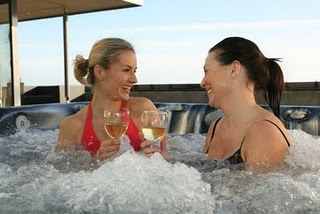 Relax in a Hot Tub with Girlfriends